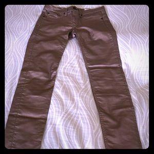 Rag & Bone metallic coated jeans